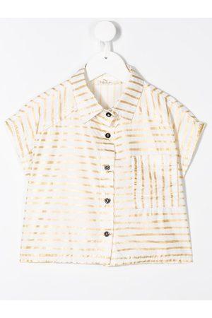 Le pandorine Camisa corta con estampado de rayas