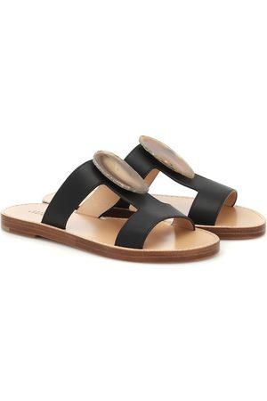 GABRIELA HEARST Hades agate-embellished leather sandals
