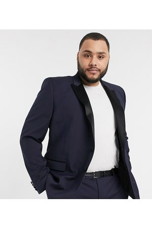 ASOS DESIGN Hombre Sacos - Plus skinny tuxedo suit jacket in navy