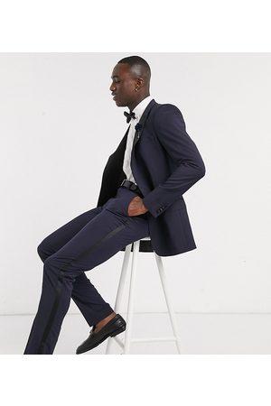 ASOS Tall skinny tuxedo suit trouser in navy
