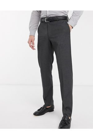 ASOS Slim smart trousers in charcoal