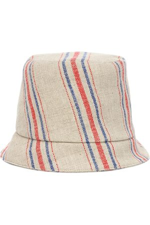 REJINA PYO Connor striped linen fedora