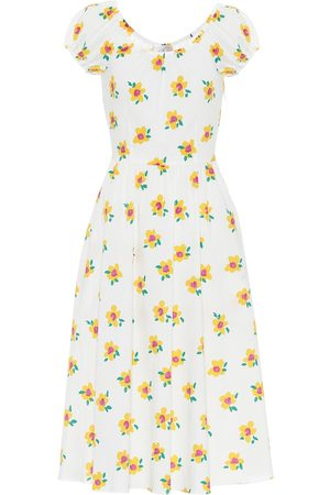Caroline Constas Mariette floral cotton midi dress