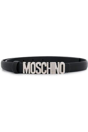 Moschino Cinturón con placa del logo