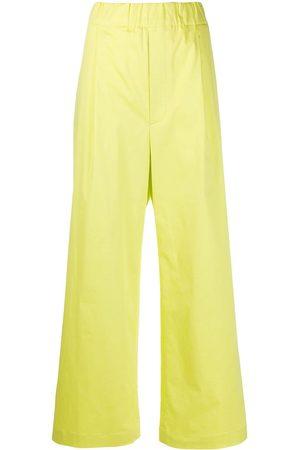 JEJIA Mujer Anchos y de harem - Pantalones anchos elásticos