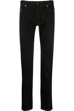 Fendi Hombre Skinny - Jeans slim con logo bordado