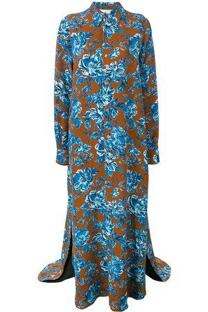Ami Mujer Camiseros - Vestido camisero largo con estampado floral