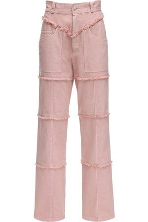 AMBUSH Pantalones De Denim Con Cintura Alta