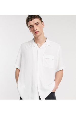 COLLUSION Short sleeve shirt in white