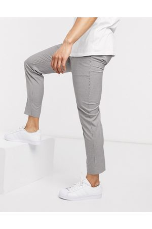 New Look Mini check trouser in off white