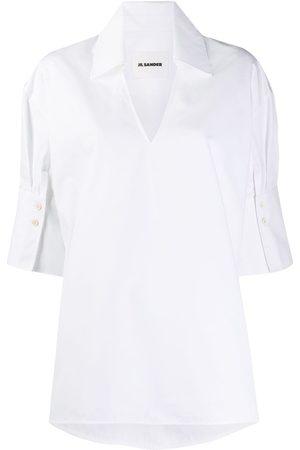 Jil Sander Mujer Camisas - Camisa con cuello abierto