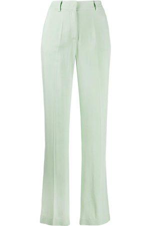 HEBE STUDIO Mujer Pantalones y Leggings - Pantalones rectos con tiro medio