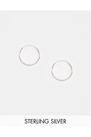 Kingsley Ryan 20mm fine hoop earrings in sterling silver