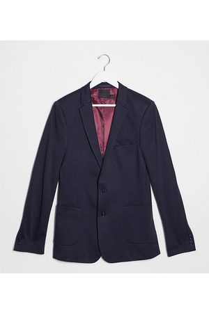 ASOS Tall super skinny jersey blazer in navy