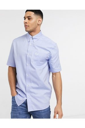 Fred Perry Short sleeve oxford shirt in blue