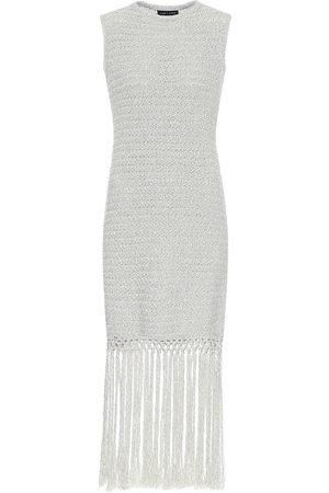 Alanui Exclusive to Mytheresa – Fringed cotton-blend minidress