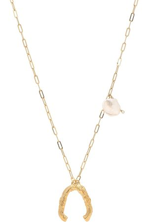 Alighieri The Flashback River 24kt gold-plated necklace with pearls