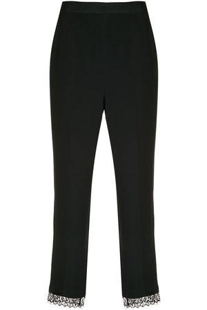 Kiki de Montparnasse Mujer Capri o pesqueros - Pantalones skinny capri con ribete de encaje