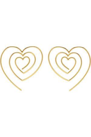 Y / PROJECT Heart-shaped spiral earrings