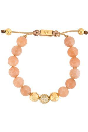 Nialaya Jewelry Pulsera con cuentas y piedra de luna
