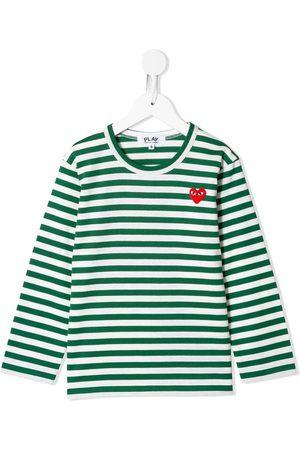 Comme des Garçons Camiseta con logo bordado