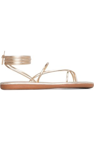 Ancient Greek Sandals Gold string leather sandals