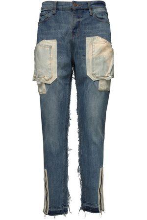 VAL. KRISTOPHER Jeans Cargo De Denim De Algodón 15cm