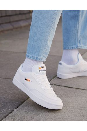 Nike Court Vintage Premium leather trainers in white