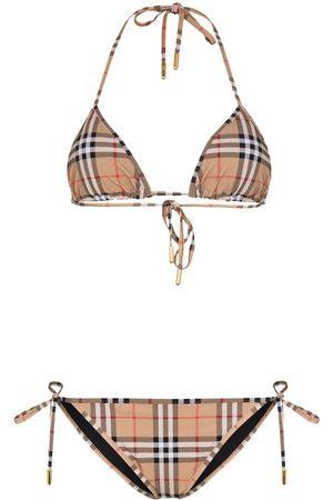 Burberry Mujer Bikinis - Bikini a cuadros