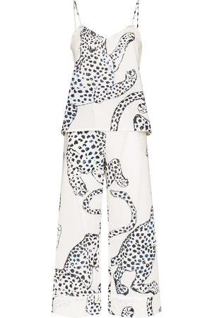 Desmond & Dempsey Mujer Conjuntos de lencería - Pijama con estampado de jaguar