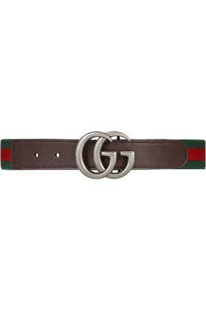 Gucci Kids Cinturón elástico con tribanda Web