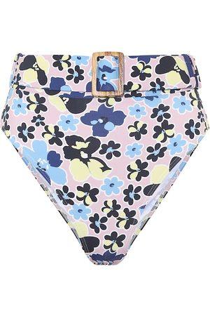 ALEXANDRA MIRO Floral high-rise bikini bottoms