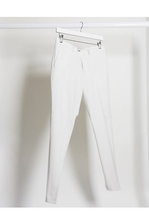 ASOS Wedding super skinny suit trousers in ice grey