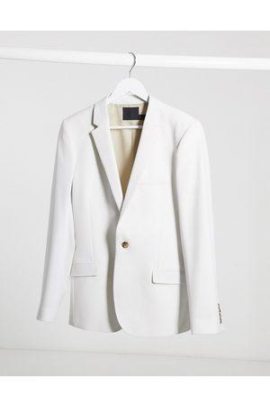 ASOS Wedding super skinny suit jacket in ice grey