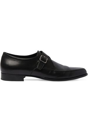 Saint Laurent 15mm Leather Buckle Loafers