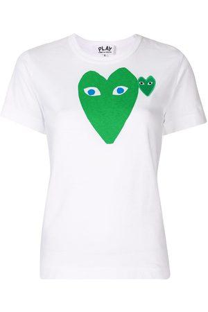 Comme des Garçons Mujer Playeras - Playera con estampado de corazón del logo