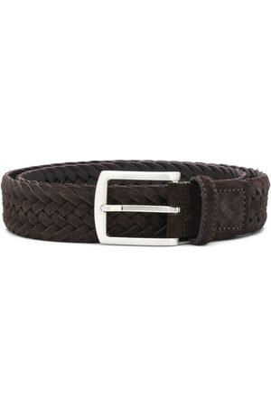 Scarosso Cinturón entretejido con hebilla cuadrada