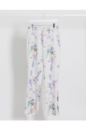 ASOS Wide leg suit trousers co ord in floral print