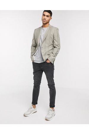 ASOS Skinny blazer with grey stripe