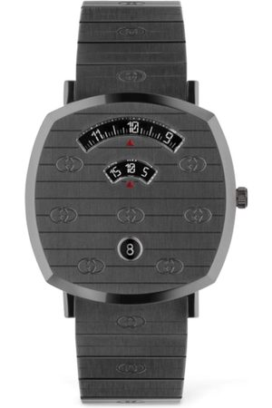 "Gucci Reloj "" Grip"" Color Plomo 38mm"