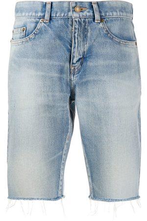 Saint Laurent Mujer De mezclilla - Shorts de mezclilla deshilachados