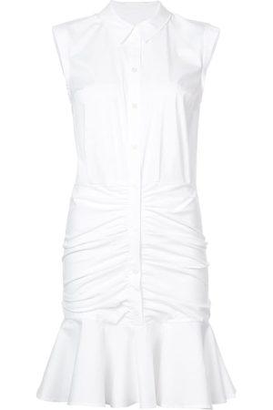 VERONICA BEARD Frill-trim shirt dress