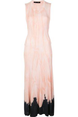 Proenza Schouler Vestido largo tejido con motivo tie-dye