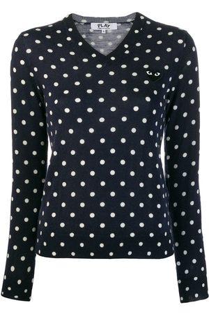 Comme des Garçons Mujer Suéteres - Suéter tejido con motivo de lunares