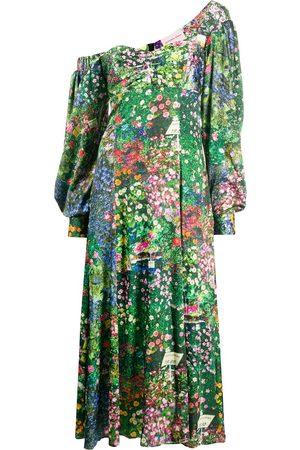 Natasha Zinko Vestido asimétrico con estampado floral