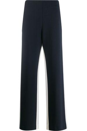 MONSE Pantalones con tiro alto y detalle tejido