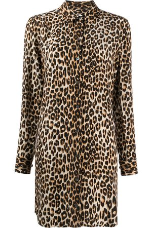 Equipment Vestido camisero con motivo de leopardo