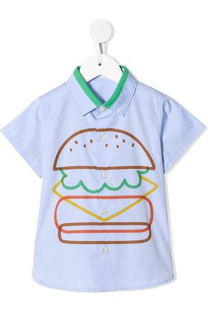 Familiar Camisa con estampado de hamburguesa