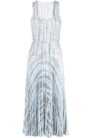 PROENZA SCHOULER WHITE LABEL Vestido plisado con estampado tie-dye