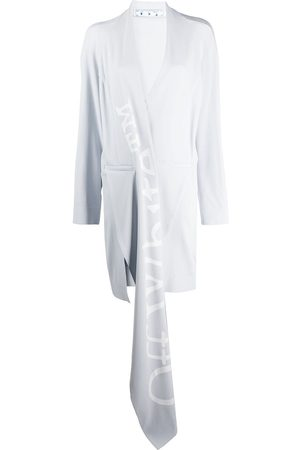 OFF-WHITE Abrigo asimétrico con detalle drapeado